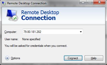 Remote Desktop connect